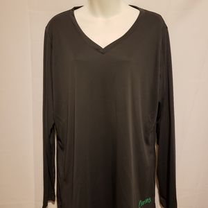 Black Long Sleeve Light Weight Pullover Shirt